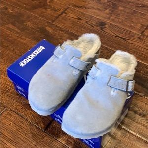 Birkenstock grey Boston fur 39 US 8